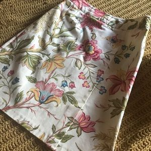 Talbots Floral Pencil Skirt 6